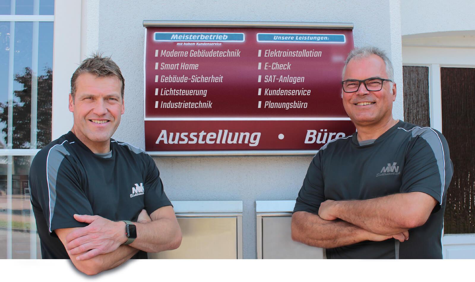 Andreas von Wilcke und Tom Möller von MVW Elektrotechnik