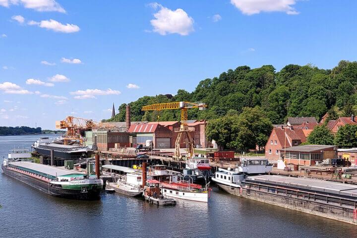 Hitzler-Werft in Lauenburg